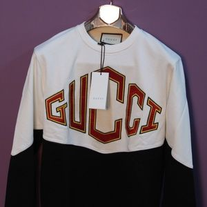 Shirts - GUCCI White And Black Sweatshirt